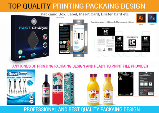 I will do Product packaging box , giftbox design