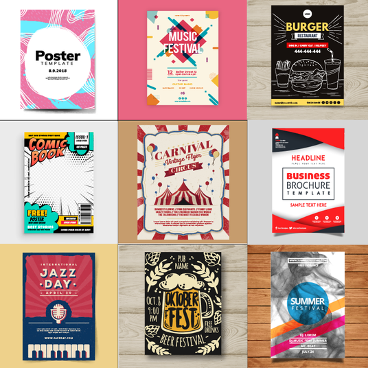 I will design a unique poster or flyer in any style, free commercial use