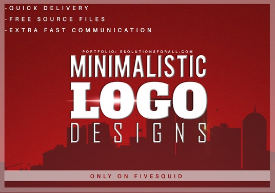 I will design Minimal Logo Design with Free Mockups
