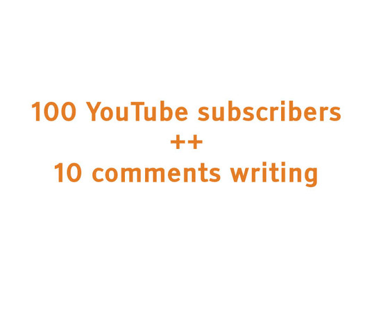 Add 100+(10 comments) real, non drop YouTube subscribers