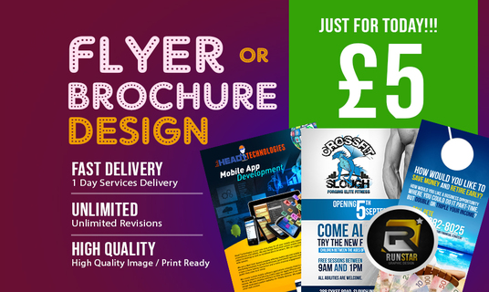 I will Design A High Quality Professional Flyer, Poster Or Brochure
