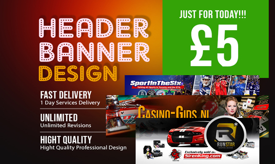 I will Design A Professional Web Header Or Banner