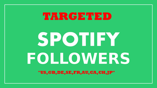 I will add 1000 Spotify Targeted Followers for Artists and Playlists