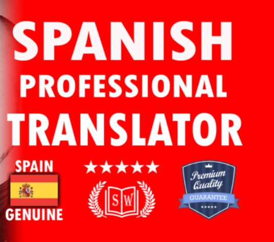 I will translate English to Spanish, ultra high quality results