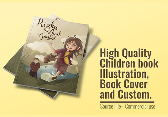 I will design children's book illustration