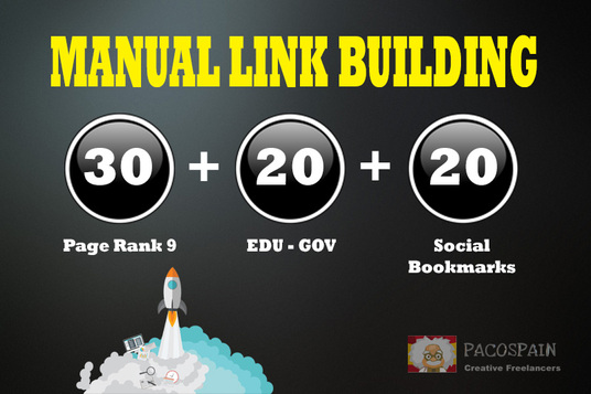 do 30+ PR9-PR7 + 20 EDU/GOV + 20 Social Bookmarking