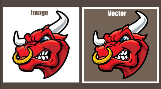 I will do vector tracing or convert image to vector illustration cartoon