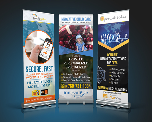 I will Pull Up / Roll Up Print Banner Design With Unlimited Revisions