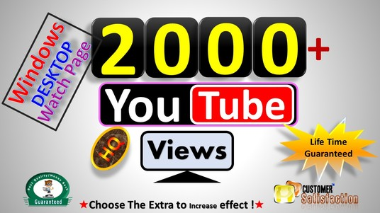 I will Instant Start 2000 to 2500 Windows Desktop Watch Page Views - HR Quality & Real Active