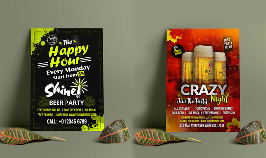 I will design creative and eye catching  party flyer