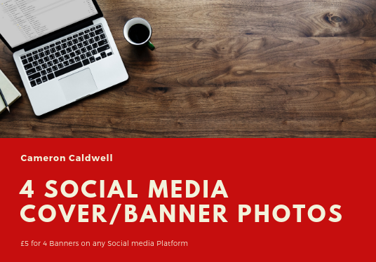 I will Create 4 Social Media, Cover or Banner Photos