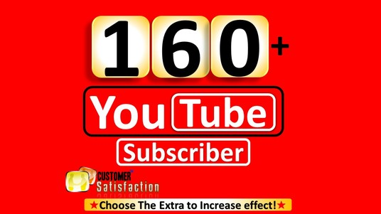 I will add 160+ YouTube subscribers