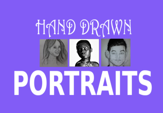 I will Draw Realistic Portraits from Photos
