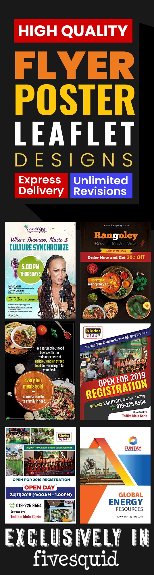 I will design Professional High-Quality Flyer, Poster or Leaflet