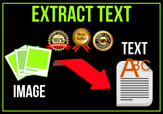 I will extract text from images or convert images into the text and make it editable professional