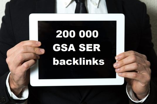 I will provide 200 000 GSA SER backlinks