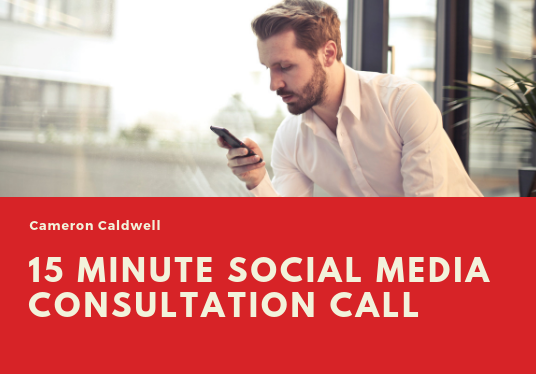 I will have a 15 minute Social Media consultation call with you