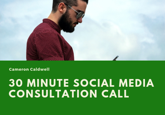 I will have a 30 minute Social Media consultation call with you