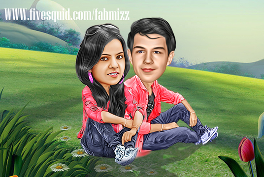 I will make a caricature of your photo