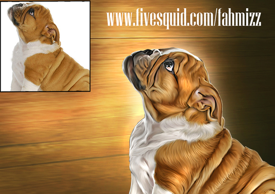 I will make your pet into a digital oil painting