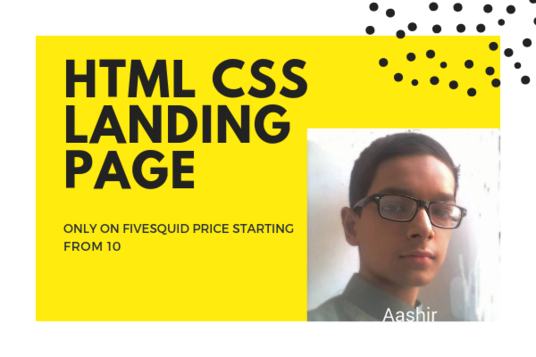 I will make a responsive html css landing-page website for you