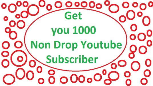 I will add 1000 youtube non drop subscribers