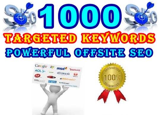I will Target 1000 Keywords with Powerful Proven Offsite SEO
