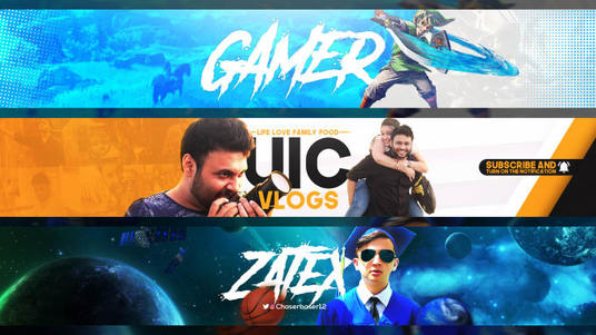 design a perfect youtube banner or cover