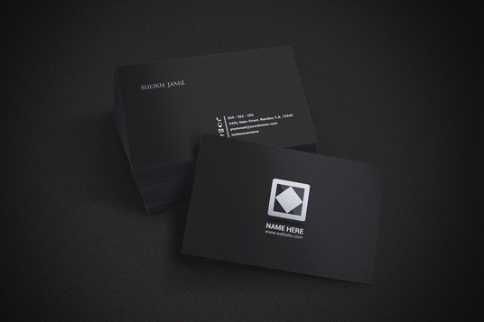 I will design business card with 2 concepts realistic mockups