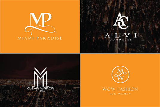 I will design monogram logo design