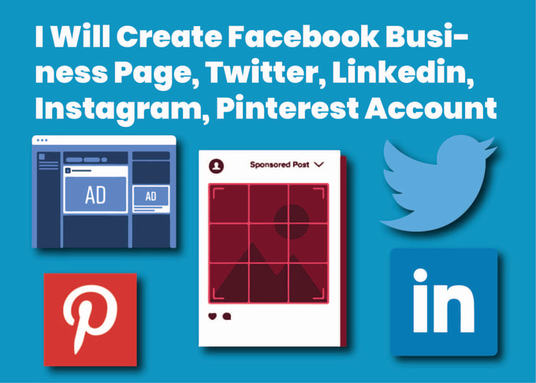 I will create you a business social media account