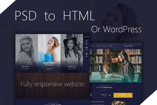 I will Convert Psd To Html Or Psd To Wordpress Theme