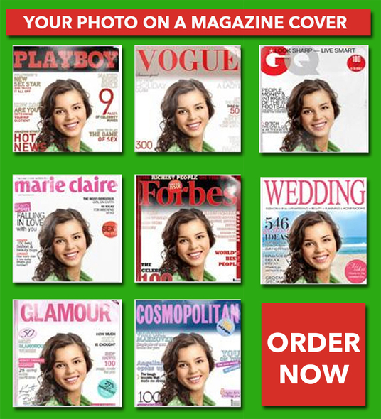 I will put your photo on famous magazine cover design as graphic designer