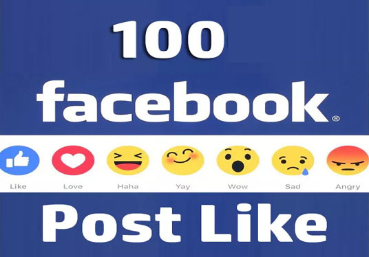 I will provide Real 100+ Facebook post likes Without password