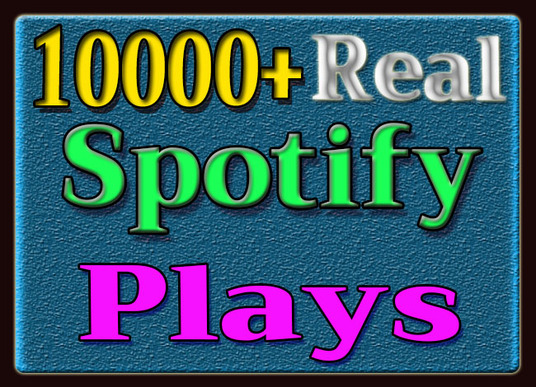 I will provide 10,000 Spotify  Plays