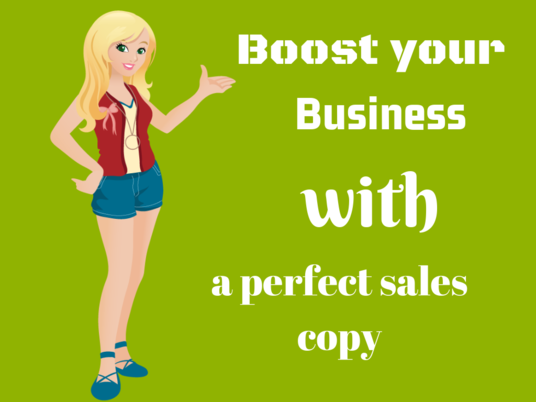 I will Compose A Phenomenal Sales Copy that Converts