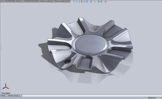 I will create a product design model with Solidworks