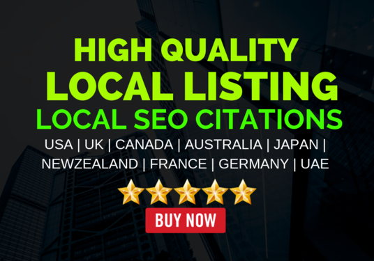 I will Do High-Quality Local Listing, Citations, Backlinks