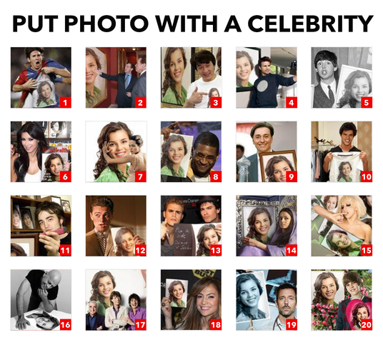 I will put your photo with famous celebrity