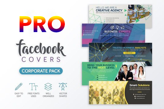 I will Design a professional looking facebook cover image as Graphic Designer