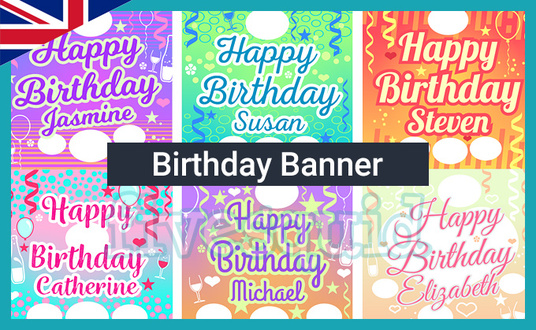 I will create a Happy Birthday banner