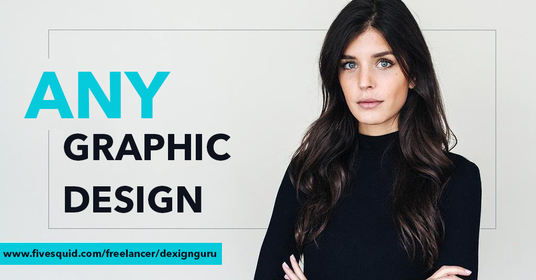 be your professional graphic designer for doing any graphic design work