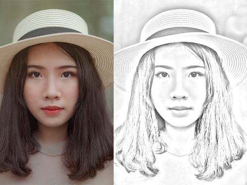 convert your image to pencil sketch