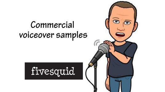 record a radio commercial voiceover