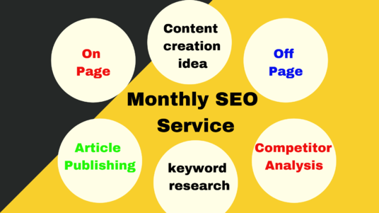 I will do monthly SEO  service for your website to rank on Google