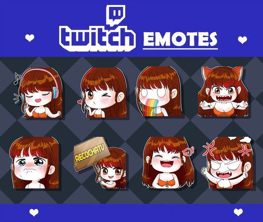 I will make cute emote - sticker for you