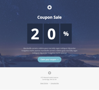 setup  Newsletter mailchimp Email template with opt in form