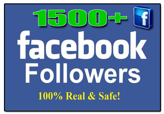 I will Add 1,500+ Facebook real Followers