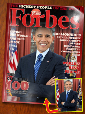put your photo on FORBES MAGAZINE front cover page