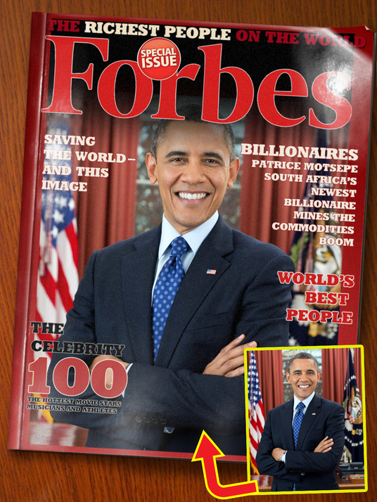 I will put your photo on FORBES MAGAZINE front cover page